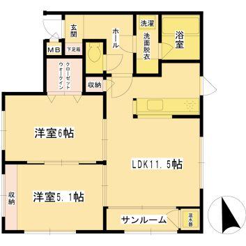 Villa Octave 402 間取り